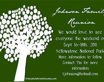 Customizable Family Reunion invitations