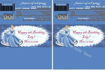 Cinderella Candy Bar Wrappers-Digital File- Check out matching invitations