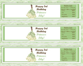 Disney's Princess and the Frog Tiana Water Bottle Wrappers-DIGITAL Check out the matching designs
