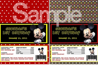 Mickey Mouse Candy Bar Wrappers-DIGITAL