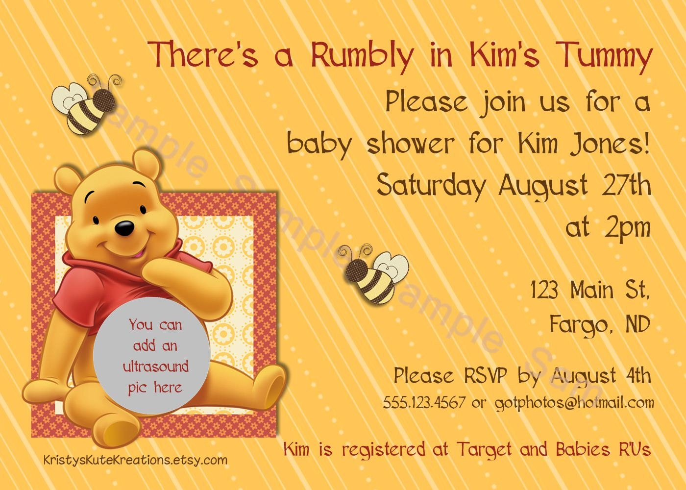 disney 39 s pooh baby shower invitation