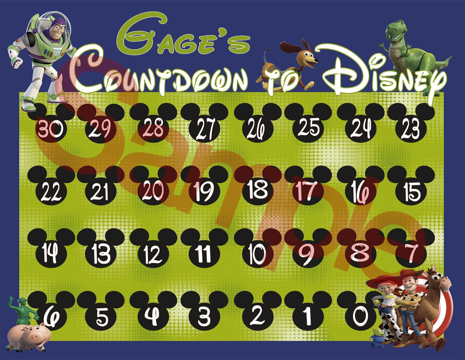 PRINT AT HOME-Digital-Countdown to Disney Calendar