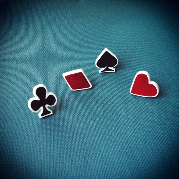 Playing Card Suits Earring Set - Suits You Collection