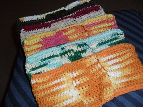 Crocheted PATTERN for  (swiffer type) dry or wet mop cover