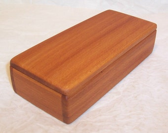 Handcrafted Reclaimed Afrormosia Wood Box