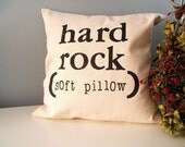 Hard Rock Hand Stamped Pillow Cover