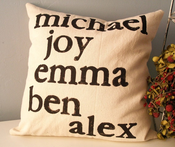 Modern Family Pillows : Pillow Cover Custom Modern Family