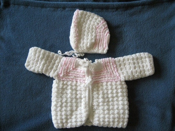 3 to 6 Month Sweater and Hat
