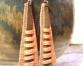 woven leather earrings