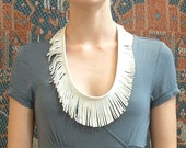 White Fringe Necklace