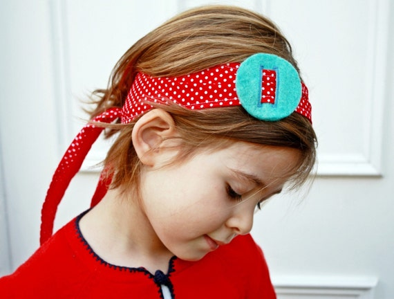 Items Similar To Tie Back Headband Red And White Polka