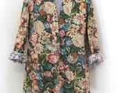 vintage revival floral blazer - (m/l)