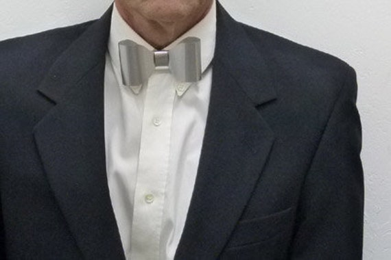 Metal Neck Bow Tie, Solid, Thin Sheet