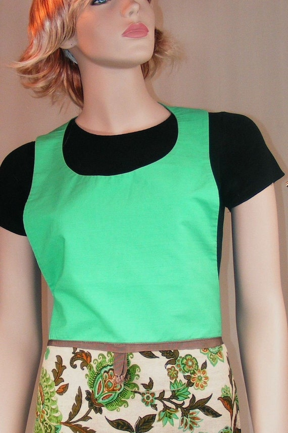 Apron from 1960s - Mint Green - Free Shipping in US