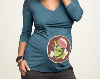 Christmas Tree Baby in Belly. DIY. Make Your Own. Apply To Any Shirt. Instant Download. Digital File.