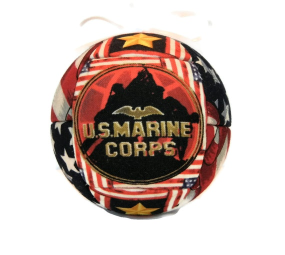 United States Marine Corp Patriotic Military Handmade Christmas Ornament Support Our Soldiers Ornament Quilted Ornament  by CraftCrazy4U