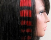 Rad Red Coon Tails - Human Hair Extensions 8 Inch