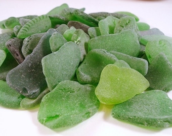 Bulk Green Sea Glass 1 pound For JEWELRY And CRAFT  From Puerto Rico