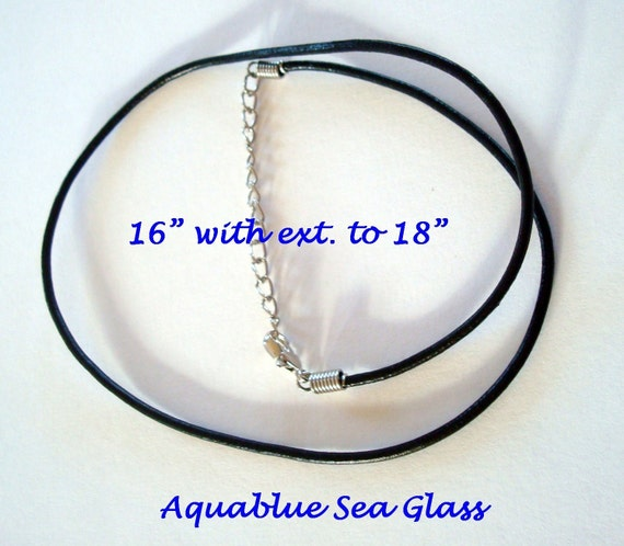 Genuine Leather Cord for your Sea Glass Pendant