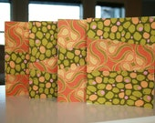 Quilted Fabric Cards - Orange\/Green