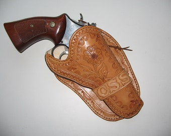 MADE TO ORDER Western Style leather holster for N frame S&W - 10/12 week delivery