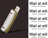 VIP Executive gifts, corporate gifts, Four 8GB Harmonica USB Flash Drives