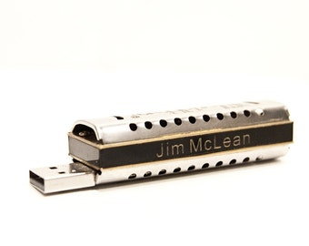 Personalized Harmonica USB 8GB Flash Drive FlashHarp