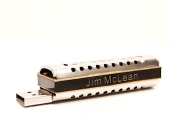 Personalized 8GB FlashHarp USB w Lesson