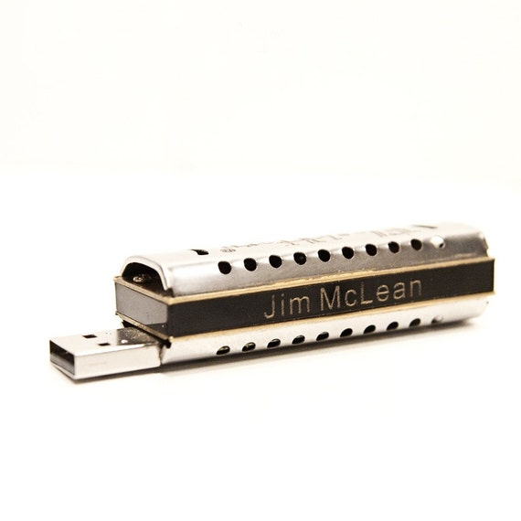 Personalized Harmonica USB 8GB Flash Drive FlashHarp