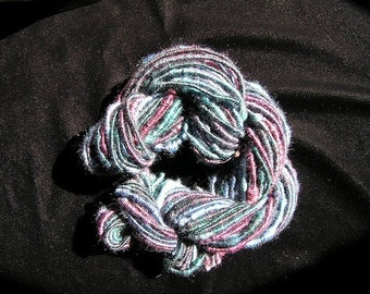 Hand-Spun Merino and Tencel Supercoil Yarn