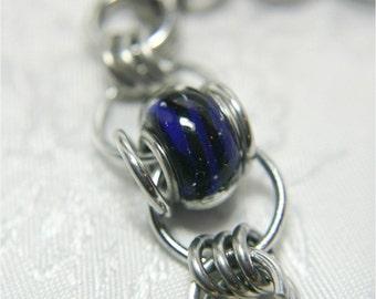 Sapphire Blue Bead Bracelet