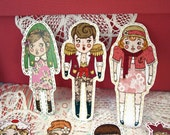 dolly babe clothesline paper cut outs.