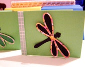 Dragonfly Spring Friendship Handmade Card and Envelope set of 2