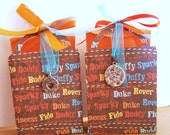 Handmade Gift Bag Box Set of 2 Puppy Dog Names Ready to Ship