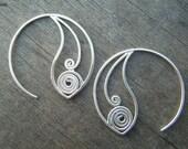 Silver Spiral Hoops (Starts)