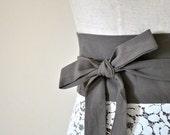 Wrap skirt Reversible / Wrap Skirt White Lace Stone Cotton