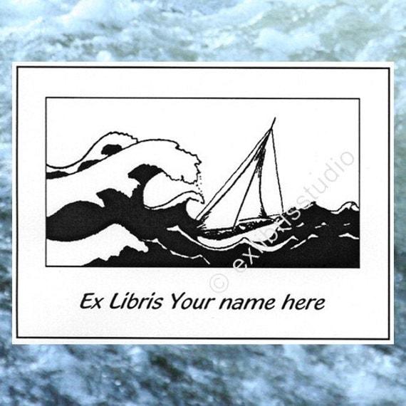 Ex Libris Storm 25 Personalized Booklabels Bookplates