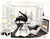 Jazzy Living Note Cards