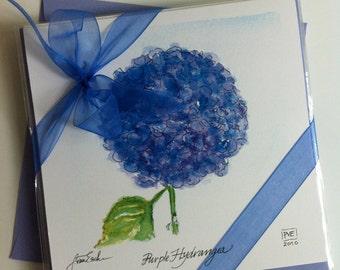 Purple Hydrangea Notecard
