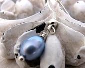 CLEARANCE SALE - light blue pearl earrings