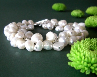 CLEARANCE SALE - White Fresh Water Pearl Bracelet