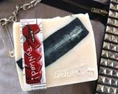 Punked -  Ltd Edition Earl Grey black tea charcoal soap natural handmade plus beautiful postcard