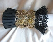 Black Gold Lace Cuff by MaggieGlynn
