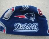 New England Patriots Fleece Hat Sizes Newborn Baby , child , or Adult