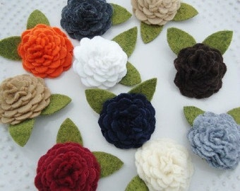 Assorted Felt Flower Blossom Hair Clips YOU PICK 4 COLORS - Perfect for Kids, Teens and Adult Women