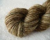 tentative -- handspun Wensleydale fine fingering singles yarn -- 540 yds