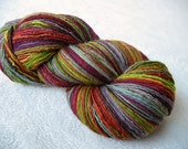 exhilirating -- handspun Merino/Silk fine fingering singles yarn -- 625 yds