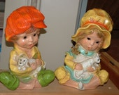 Vintage Girl and Boy Statues 1974 Universal Statuary Corp