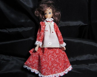Hand Crafted Vintage Clothing Pin Doll, Hand Made Dolls, Clothspin Doll