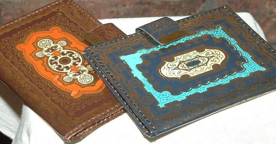 2 Leather Printed Wallets Never USED